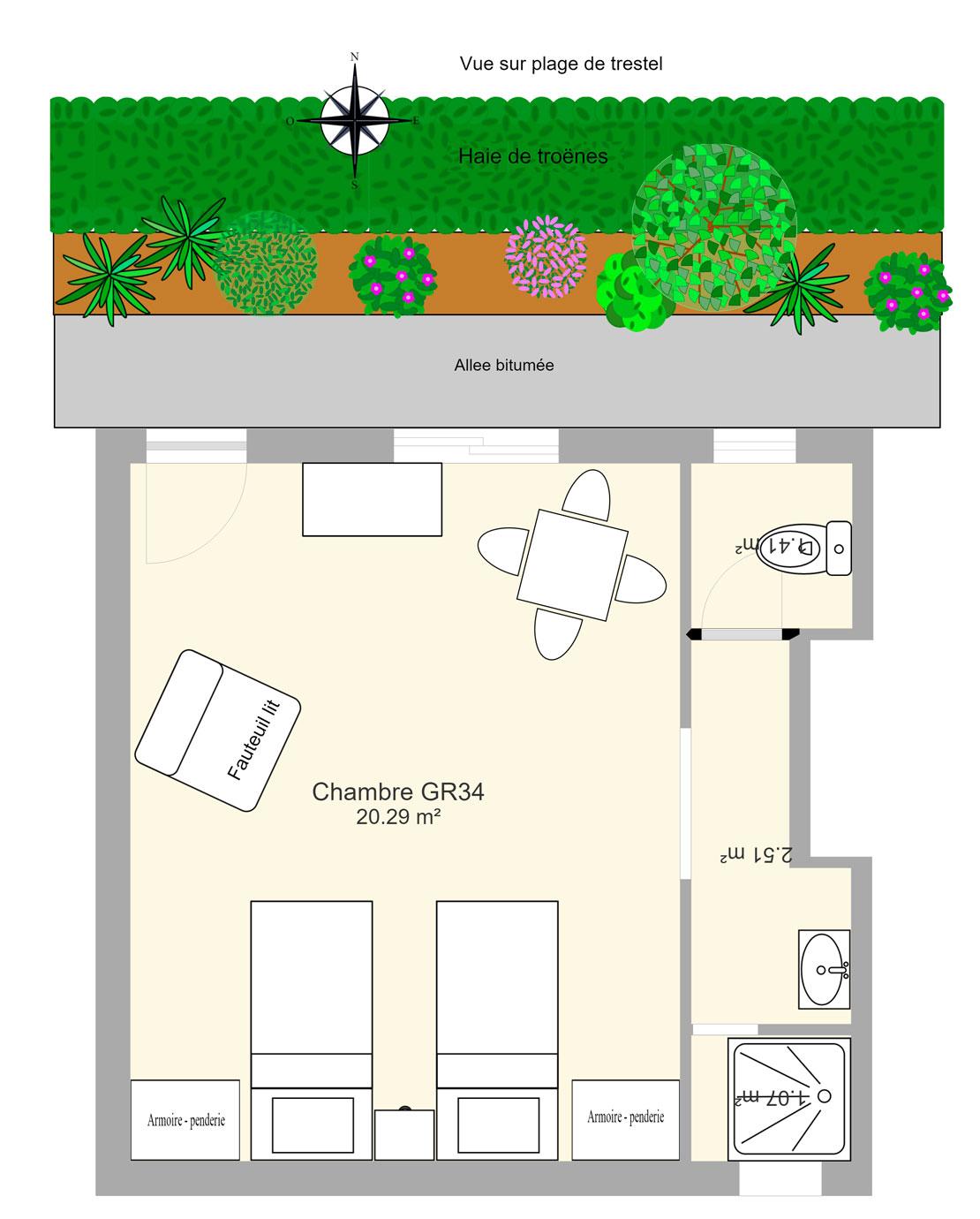 Plan chambre GR34