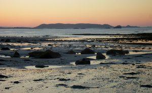 fin de coucher de soleil sur Tomé